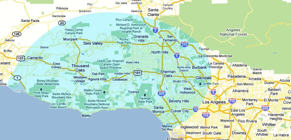 Gaspar Plumbing Services map